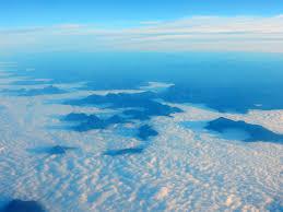 Ocean, Mountain, Blueness, Sky