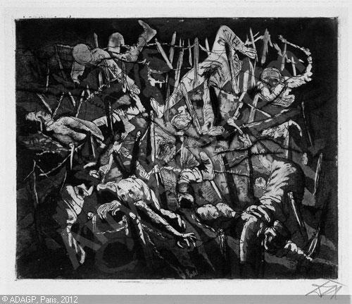 """Otto Dix """"Totentanx"""" 1917"""