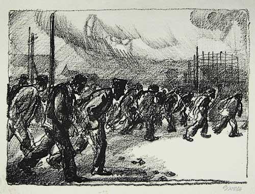 "Georg Grosz ""Arbeiter"" 1912-13"