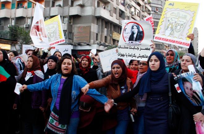 EgyptianWomenmanifestAgainstSexualHarrassment