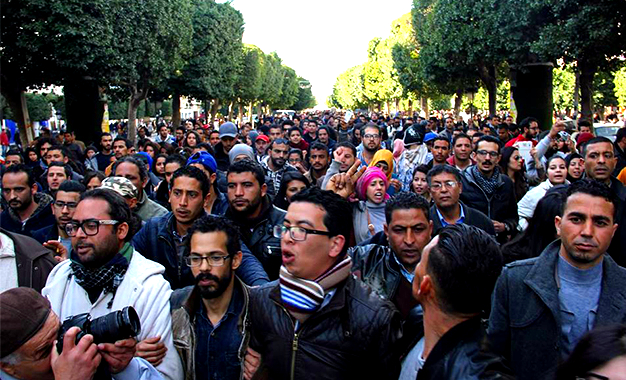 Tunis-manif-chômeurs