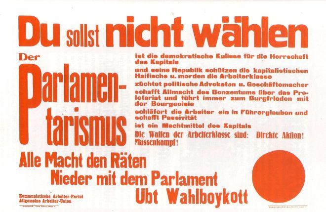 1920~Reichstagswahl--Boykottaufruf